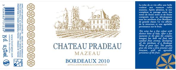 Château Pradeau Mazeau Rouge